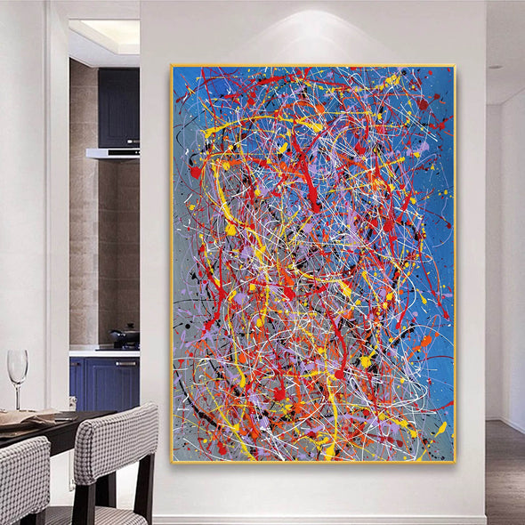 Abstract acrylic painting on canvas | Modern and contemporary art LA129_7