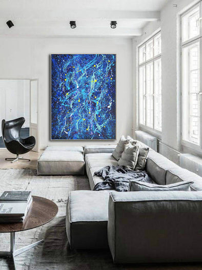 Abstract acrylic painting on canvas | Modern and contemporary art LA102_1