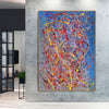 Abstract acrylic painting on canvas | Modern and contemporary art LA129_9