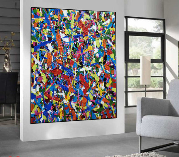 Original abstract art | Oil on canvas art LA59_2