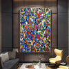 Original abstract art | Oil on canvas art LA59_9