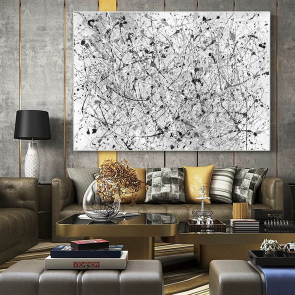 Oil painting abstract canvas | Modern abstract artists paintings LA262_3