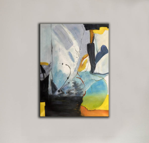 Original abstract paintings | Abstract oil painting on canvas LA166_6