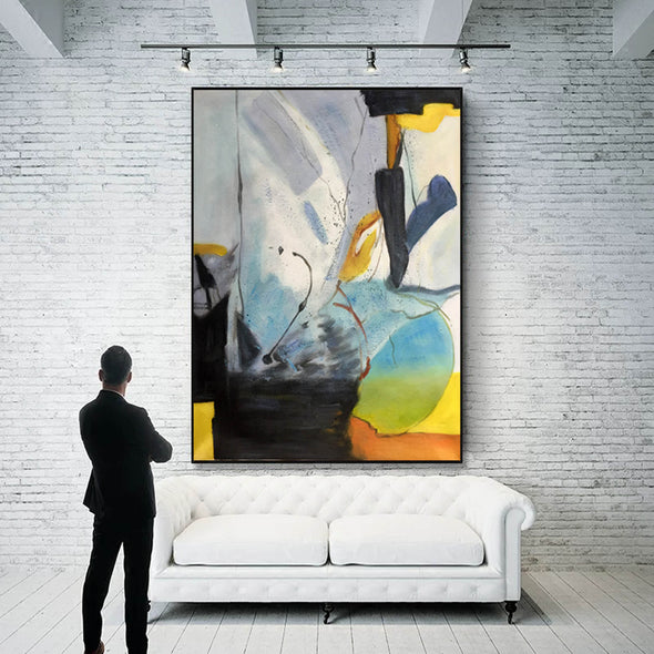 Original abstract paintings | Abstract oil painting on canvas LA166_2