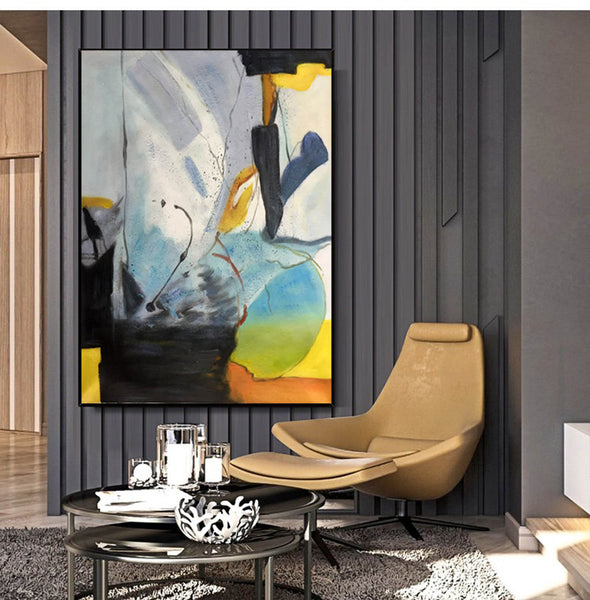 Original abstract paintings | Abstract oil painting on canvas LA166_7