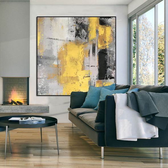 Original abstract paintings | Abstract oil painting on canvas LA16_8