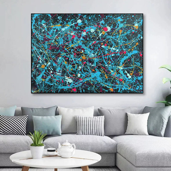 Paint abstract art canvas | Original abstract artwork  LA246_2