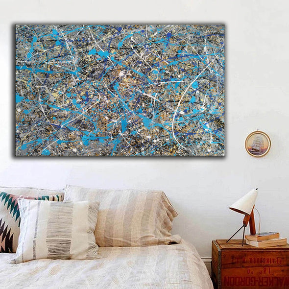 splatter painting gallery | splatter painting reproduction L941-9