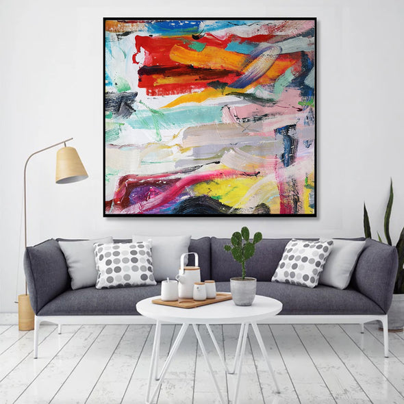 Easy abstract oil paintings | Most abstract art L659-8