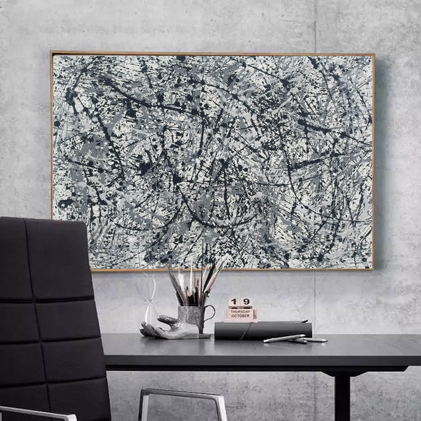 splatter painting canvas | Original drip L765-6