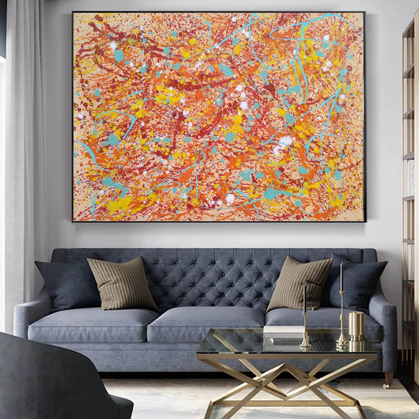 Original drip painting | splatter painting painting style L874-2