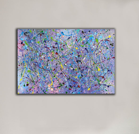 Painting an abstract painting | Canvas art paintings abstract LA258_10