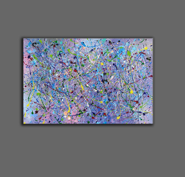 Painting an abstract painting | Canvas art paintings abstract LA258_4