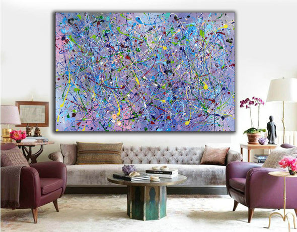 Painting an abstract painting | Canvas art paintings abstract LA258_1