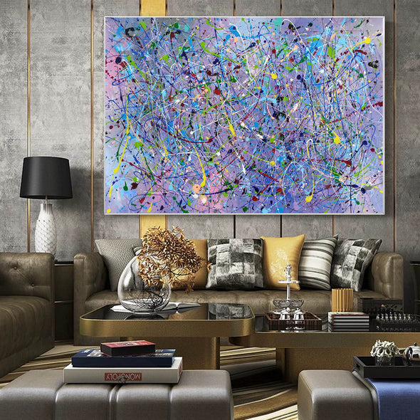 Painting an abstract painting | Canvas art paintings abstract LA258_3