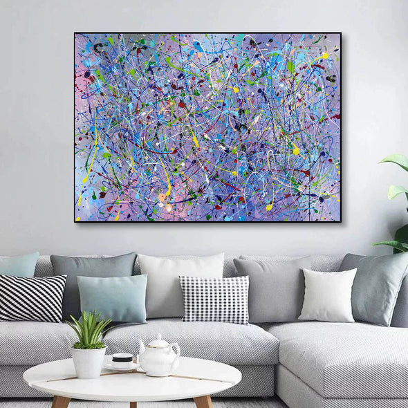 Painting an abstract painting | Canvas art paintings abstract LA258_5