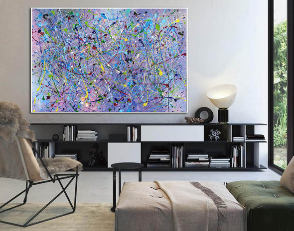 Painting an abstract painting | Canvas art paintings abstract LA258_6