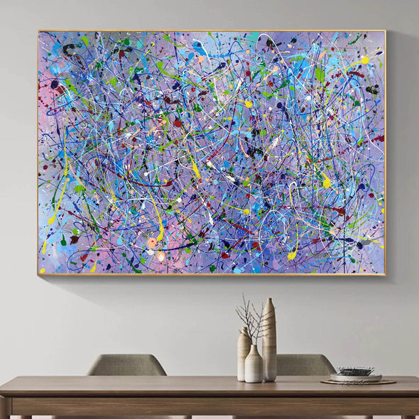 Painting an abstract painting | Canvas art paintings abstract LA258_7