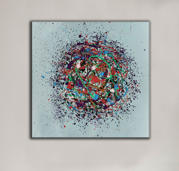 Oil painting on canvas abstract | Oil canvas abstract LA86_3