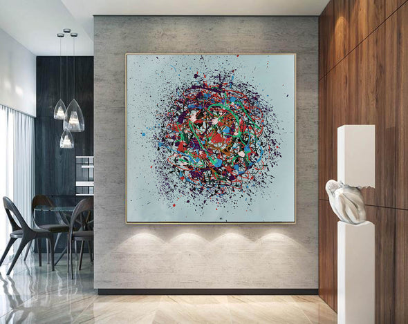 Oil painting on canvas abstract | Oil canvas abstract LA86_2