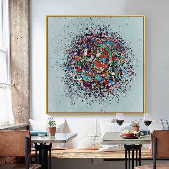 Oil painting on canvas abstract | Oil canvas abstract LA86_6