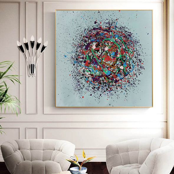 Oil painting on canvas abstract | Oil canvas abstract LA86_7