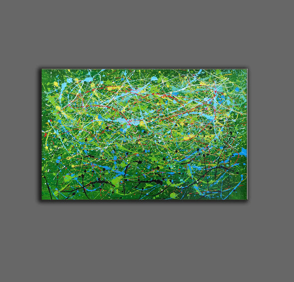 Contemporary abstract artists painting | Painting on canvas abstract LA257_10