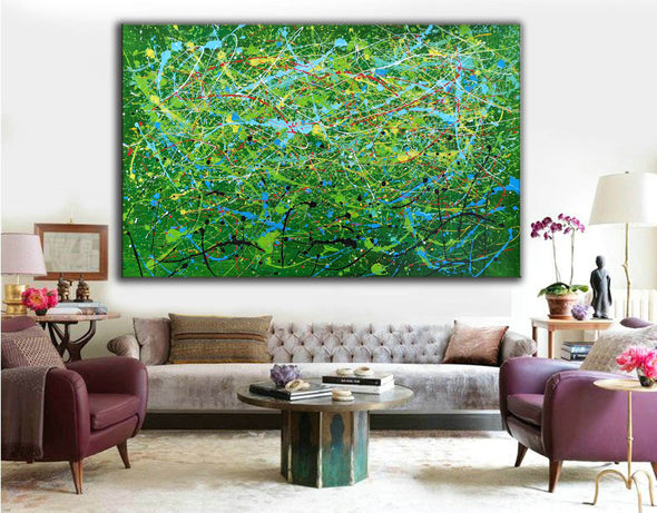 Contemporary abstract artists painting | Painting on canvas abstract LA257_2