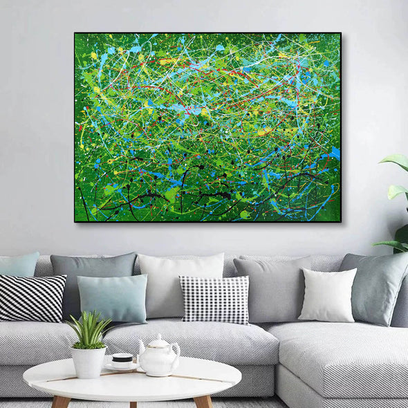 Contemporary abstract artists painting | Painting on canvas abstract LA257_3