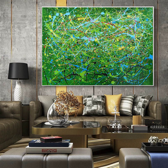 Contemporary abstract artists painting | Painting on canvas abstract LA257_4