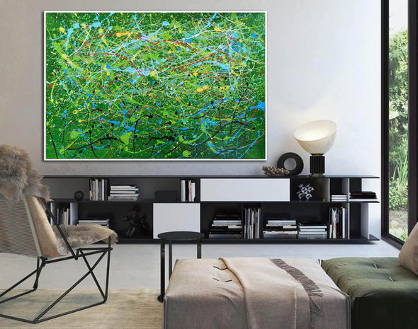 Contemporary abstract artists painting | Painting on canvas abstract LA257_5