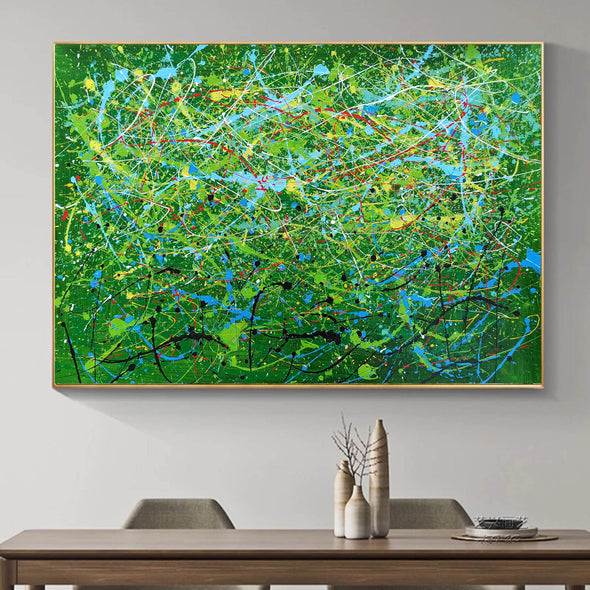Contemporary abstract artists painting | Painting on canvas abstract LA257_6