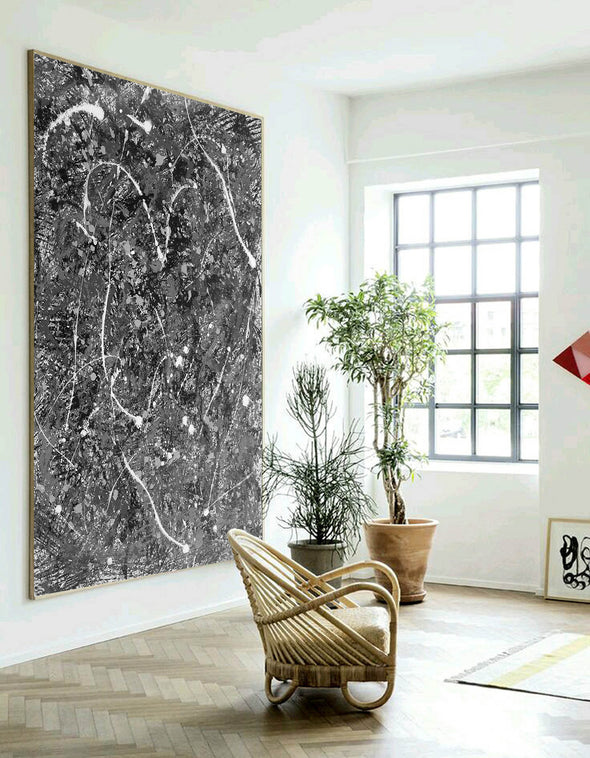 Abstract art dripping paint | Jackson pollock complete works L880-6