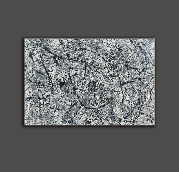 splatter painting canvas | Original drip L765-7