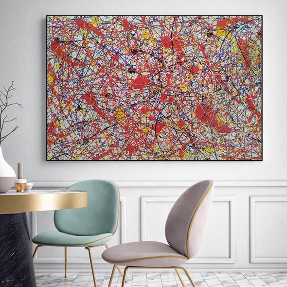 Paint like splatter painting | Drip paint canvas L911-7