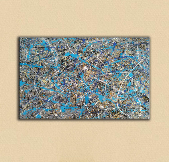 splatter painting gallery | splatter painting reproduction L941-10