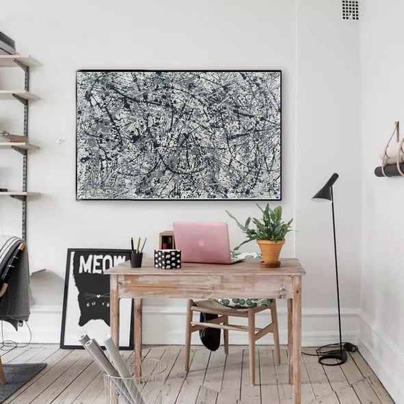 splatter painting canvas | Original drip L765-9