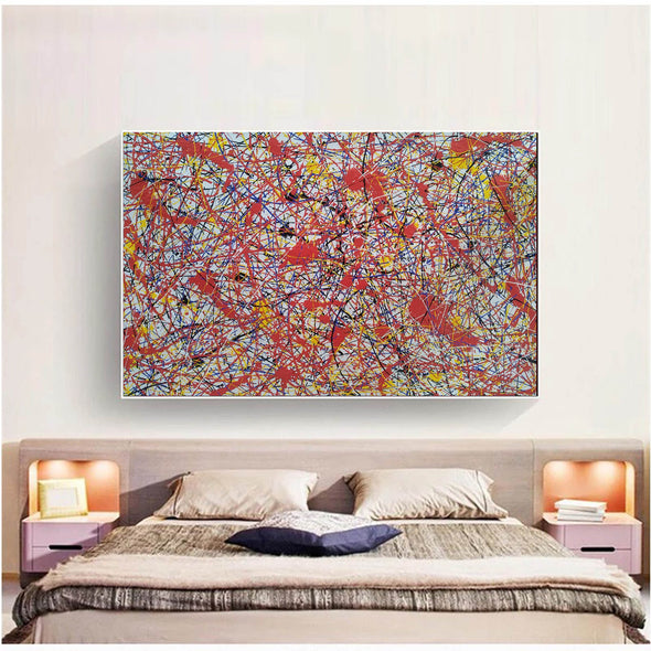 Paint like splatter painting | Drip paint canvas L911-8