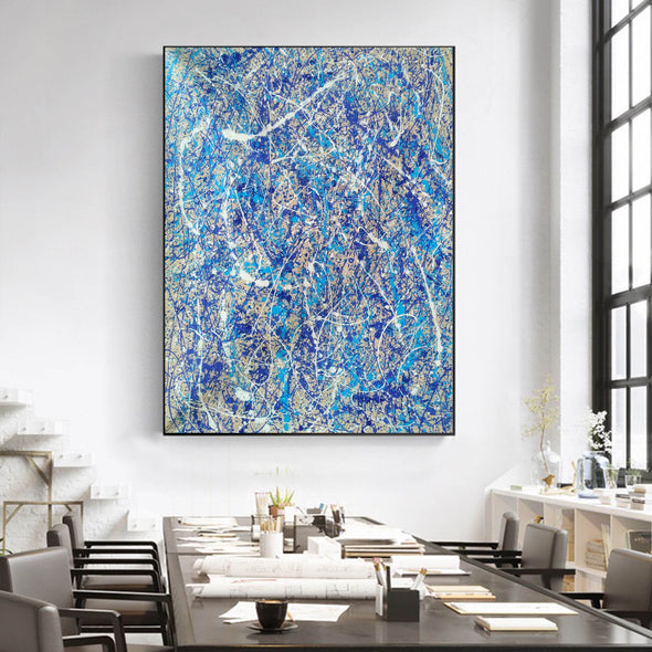 Pollock splatter paint | Pouring paint on canvas L924-10
