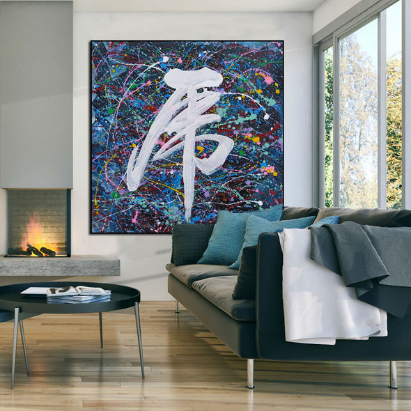 Pretty abstract paintings | Original artwork abstract LA72_5