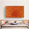 red abstract art | large original art | oversized oil paintings for sale L744-1
