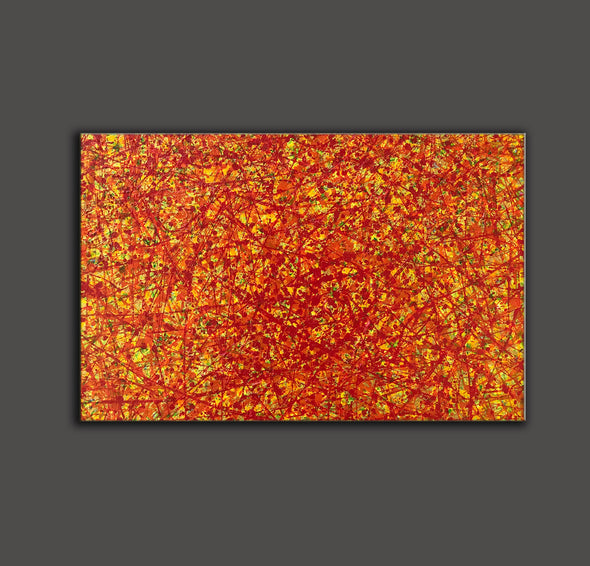 red abstract art | large original art | oversized oil paintings for sale L744-7