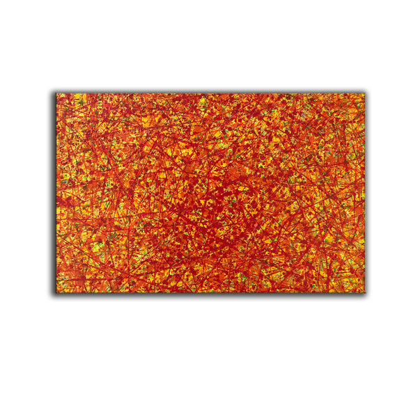 red abstract art | large original art | oversized oil paintings for sale L744-6