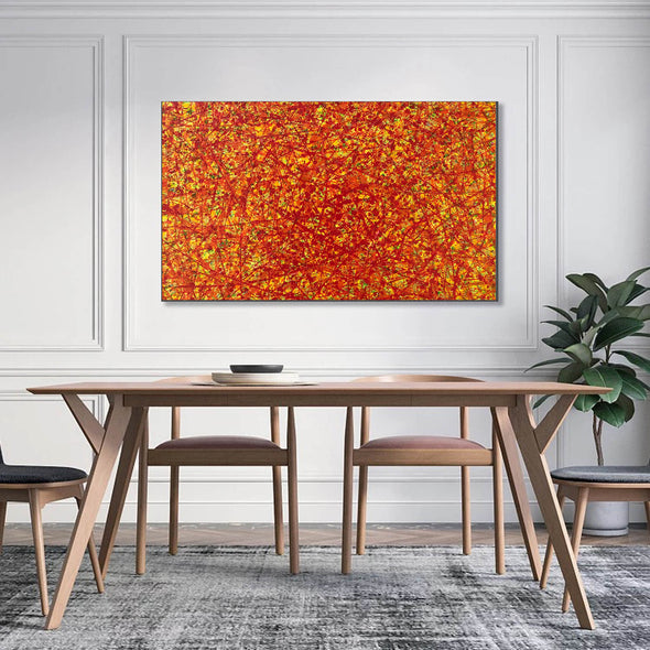 red abstract art | large original art | oversized oil paintings for sale L744-4