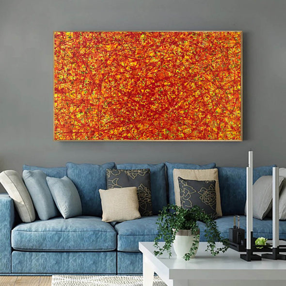 red abstract art | large original art | oversized oil paintings for sale L744-3