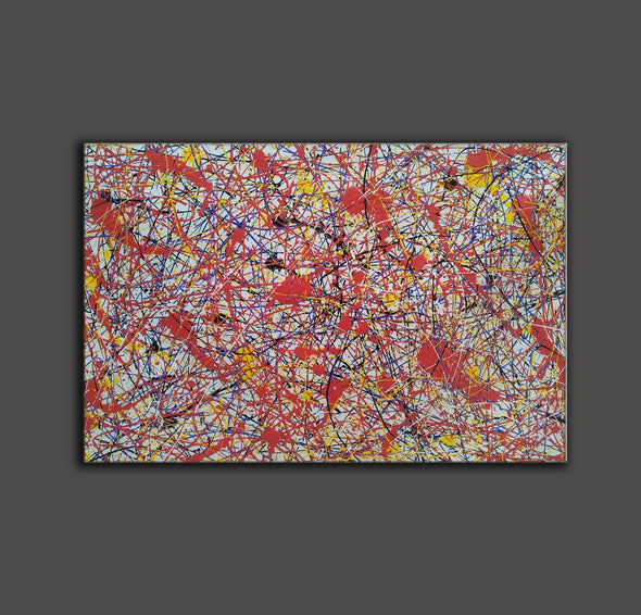 Paint like splatter painting | Drip paint canvas L911-9