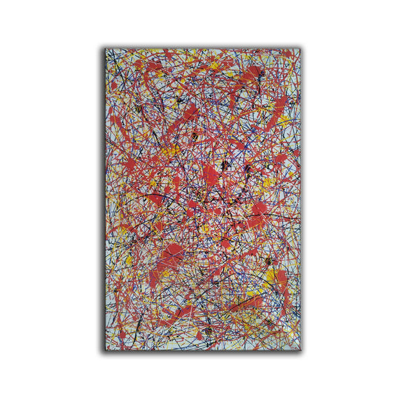 splatter painting portrait | Canvas splatter painting L927-10