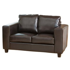Faux Leather Sofa Suite in 1,2 or 3 Seater Or Sofa bed Options in Black, Brown, Red Or Ivory - VEHome