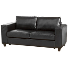 Load image into Gallery viewer, Faux Leather Sofa Suite in 1,2 or 3 Seater Or Sofa bed Options in Black, Brown, Red Or Ivory - VEHome