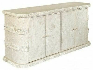 Sideboard Rockedge Mactan Stone Four Door Sideboard Cabinet Storage Unit - VEHome